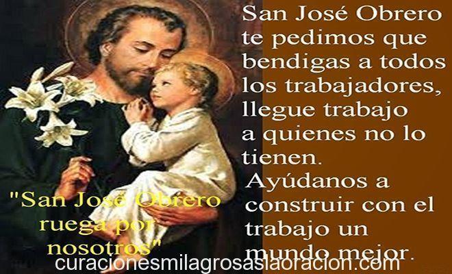 Oración a San José Obrero para cuando