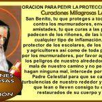 San Benito pidiendo Protección